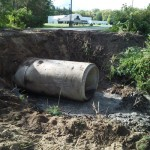 church culvert repair before